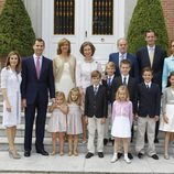 La Familia Real al completo en la primera comunión de Miguel Urdangarín
