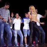 Piqué, Villa, Pedro, Bojan, Busquets y Shakira en Barcelona