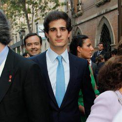 Fernando Fitz-James Stuart en la boda de Carmen Solís Tello