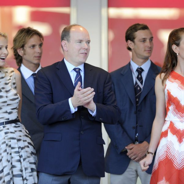 La Familia Real Monegasca en el Gran Premio de Fórmula 1 de Mónaco