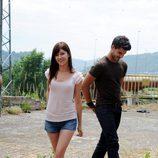 Úrsula Corberó y Maxi Iglesias en el rodaje de 'XP3D'
