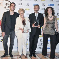 Miguel Ángel Silvestre, Lola Herrera, Imanol Arias y Silvia Marsó en 'La Casa del Actor'
