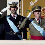 El Príncipe Felipe y el Rey Don Juan Carlos I