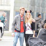 David de Gea y Edurne posan felices en Disneyland París