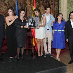 Los Morente junto al Embajador de Francia