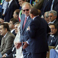 El Rey y Silvio Berlusconi en Roma