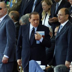 El Rey, Berlusconi y otros mandatarios en Roma