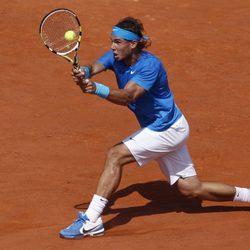 Rafa Nadal durante la final de Roland Garros