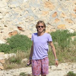 Andrea Casiraghi en las rocas