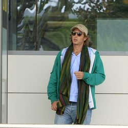 Andrea Casiraghi a su llegada a Ibiza