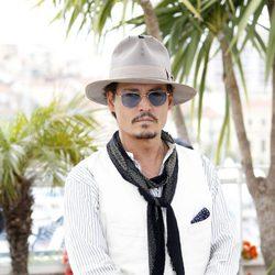 Johnny Depp a su llegada a Cannes