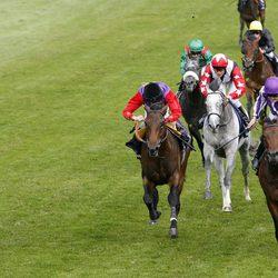 Jockeys en el Derby de Epsom
