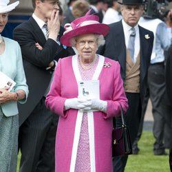 La Reina Isabel II en el Derby de Epsom