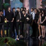 Taylor Lautner y otros miembros del reparto de 'Crepúsculo'