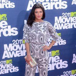Jessica Szohr en la alfombra roja de los MTV Movie Awards 2011