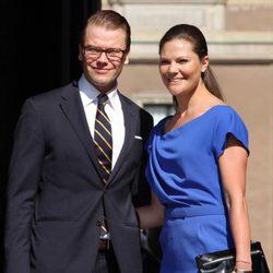 Los Príncipes Daniel y Victoria de Suecia en el Día Nacional Sueco