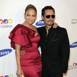 Jennifer Lopez y Marc Anthony en 'Hope for Children'