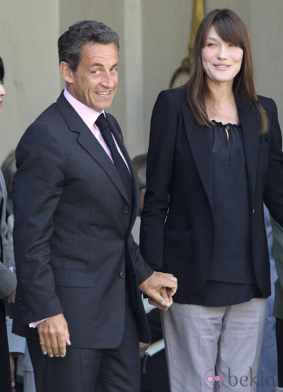 Nicolas Sarkozy y Carla Bruni