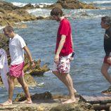 Pau Gasol con unos amigos en Ibiza