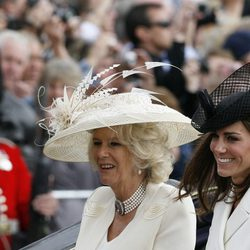 Camilla Parker y Catalina Middleton en Trooping the colour