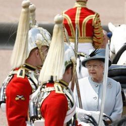 Isabel II en Trooping the Colour