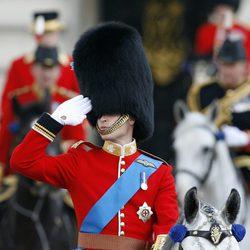 El Príncipe Guillermo en el desfile 'Trooping the colour'