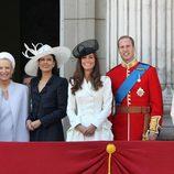 Los Duques de Cambridge y la Condesa de Wessex en Trooping the colour