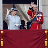 La Reina Isabel II y el Príncipe Felipe de Edimburgo en Buckingham Palace