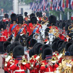 La Familia Real en el desfile 'Trooping the colour'