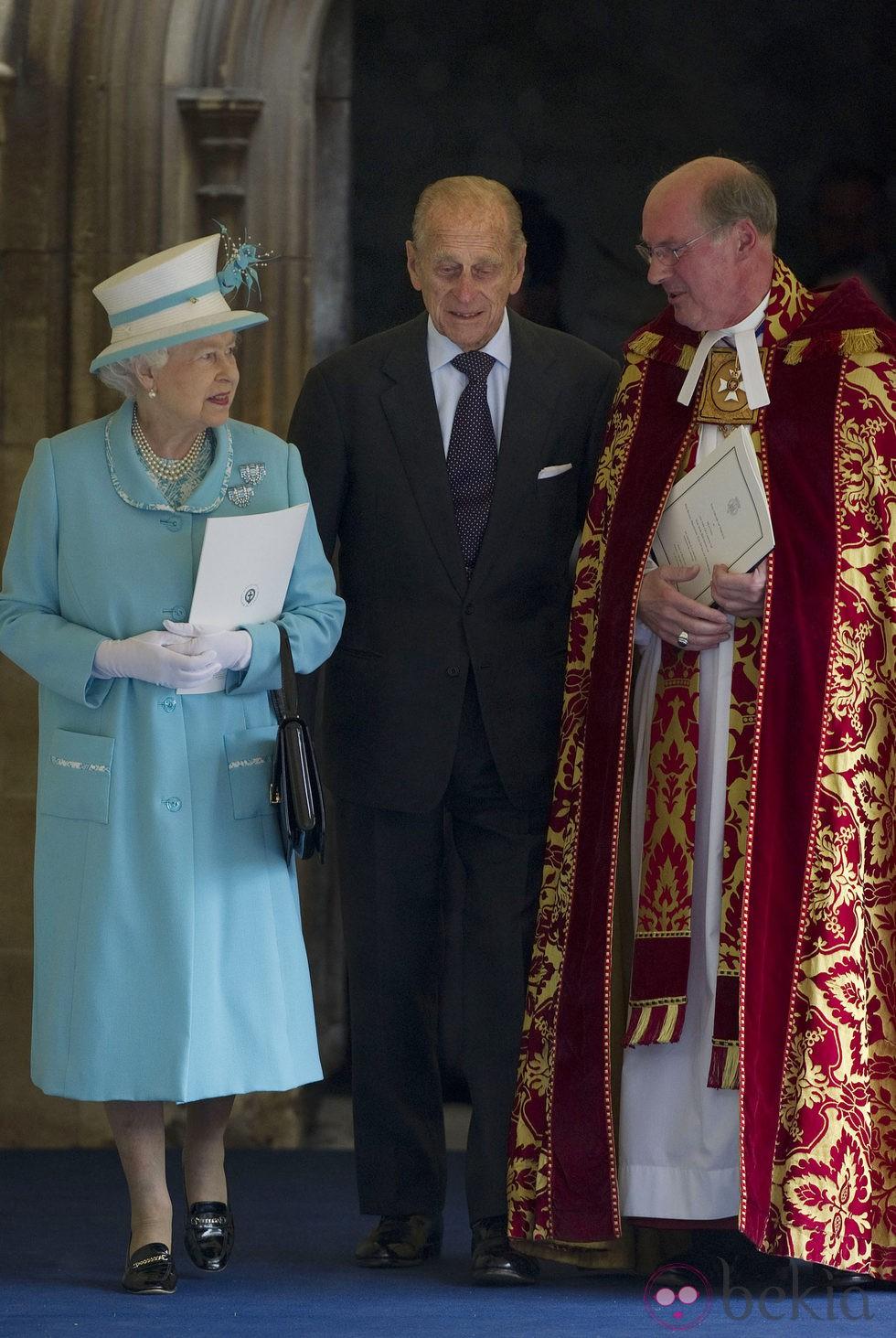 La Reina Isabel II y el Príncipe Felipe de Edimburgo en Windsor