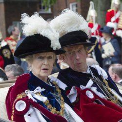 La Princesa Alexandra y el Duque de Kent en la Orden de la Jarretera