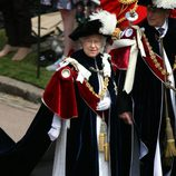 Felipe de Edimburgo y la Reina en la Orden de la Jarretera