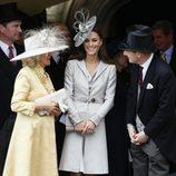 Catalina Middleton y Camilla Parker en la procesión de la Orden de la Jarretera