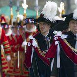 El Príncipe Guillermo y el Príncipe Andrés en la Jarretera