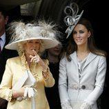 Camilla Parker Bowles y Catherine Middleton en la Orden de la Jarretera