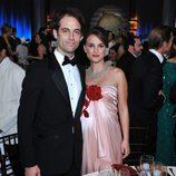 Natalie Portman y Benjamin Millepied en los Globos de Oro 2011
