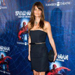 Helena Christensen en el estreno del musical de 'Spider-Man'