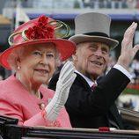La Reina Isabel II y el Príncipe Felipe en Ascot