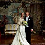 La Princesa Natalia y Alexander Johannsman posan tras casarse
