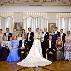Foto de familia de la boda de la Princesa Natalia