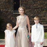 La Princesa Alexandra junto a la Condesa Ingrid y el Conde Richard