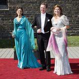 El Príncipe Gustavo, Carina Axelsson y Alexia de Grecia