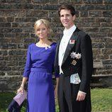 Pablo de Grecia y Marie Chantal Miller en la boda de la Princesa Natalia
