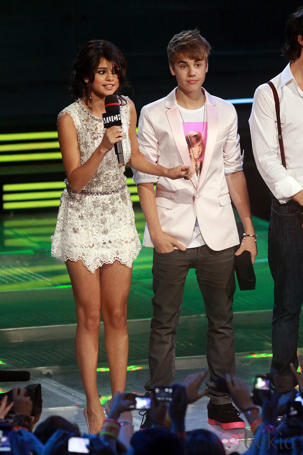 Selena Gomez y Justin Bieber en los MuchMusic Video Awards 2011