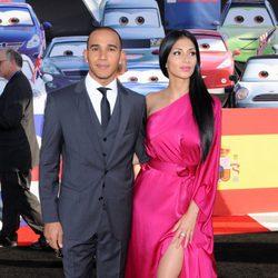 Lewis Hamilton y Nicole Scherzinger en el estreno de 'Cars 2'