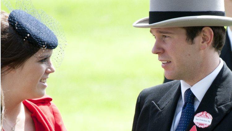 Eugenia de York y su novio Jack Brooksbank en Ascot