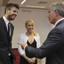 Piqué y Shakira junto a Tony Blair en Israel