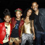 Willow, Jaden, Jada y Will Smith en los Bet Awards 2011