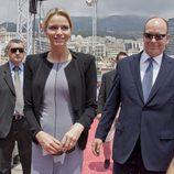 Alberto de Mónaco y Charlene Wittstock en el Concurso de Hípica de Monte-Carlo