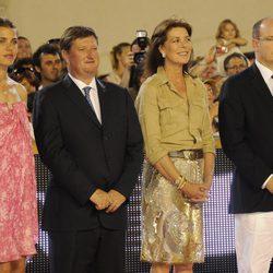 Carlota Casiraghi, Carolina y Alberto de Mónaco